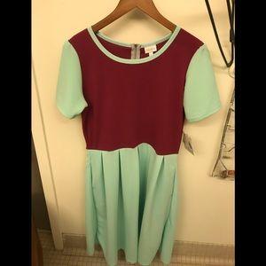 LulaRoe Amelia Green Dress